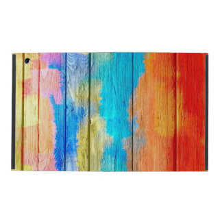 Colorful Painting Wood Vintage #3 iPad Folio Cover