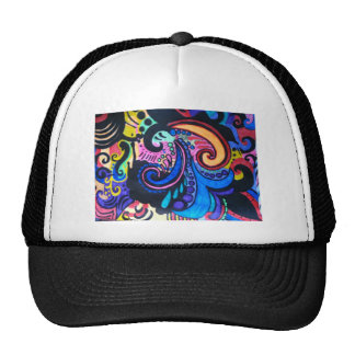 COLORFUL PAISLEY TRUCKER HATS