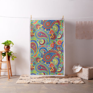 Colorful Paisley Pattern Fabric