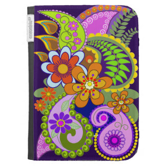 Colorful Paisley Pattern & Flowers Kindle folio Cases For Kindle