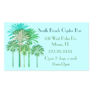 Colorful Palm Trees Business Card