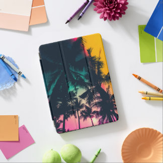 Colorful Palm Trees Silhouette iPad Air Case