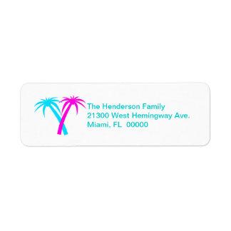 Colorful Palms Return Address Label