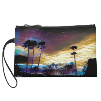 Colorful Palms Wristlet