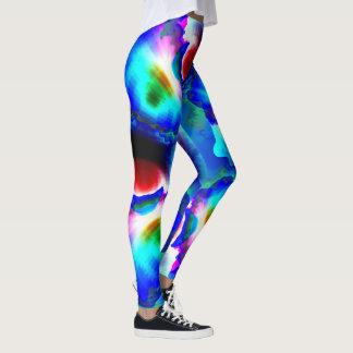 Colorful Pansies Custom Leggings