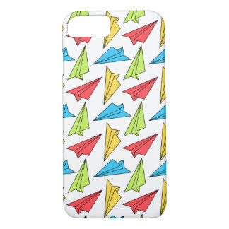 Colorful Paper Airplanes Pattern iPhone 7 Case