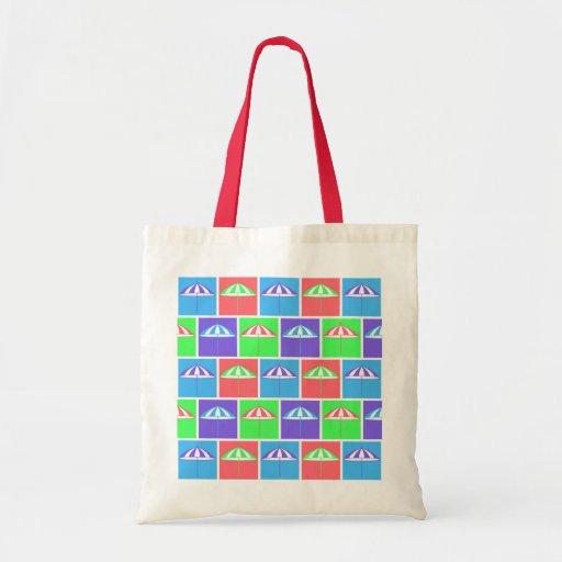 Colorful parasol pattern bags