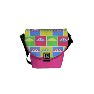 Colorful parasol pattern commuter bags