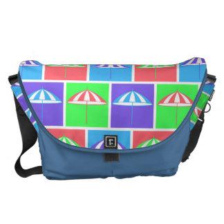 Colorful parasol pattern courier bag
