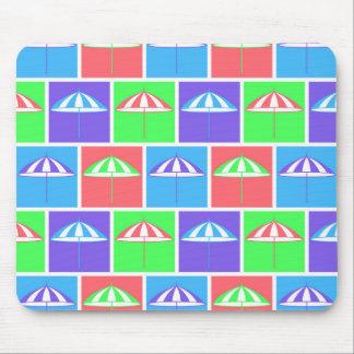 Colorful parasol pattern mousepad