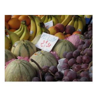 Colorful Paris Fruit Market Postcard