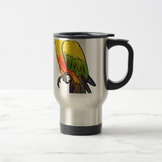 Colorful Parrot Travel Mug