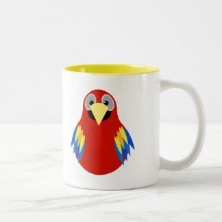 Colorful Parrot Two-Tone Mug