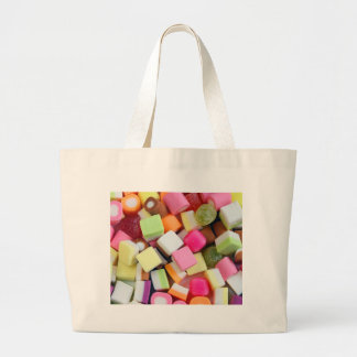Colorful party candy mix print jumbo tote bag