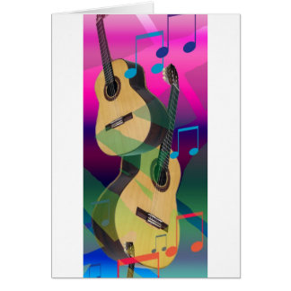 Colorful Party Guitars Card