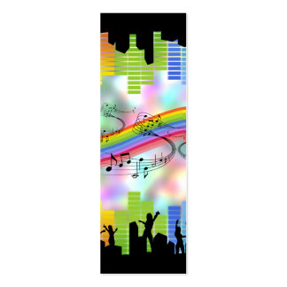 Colorful Party Music Pack Of Skinny Business Cards