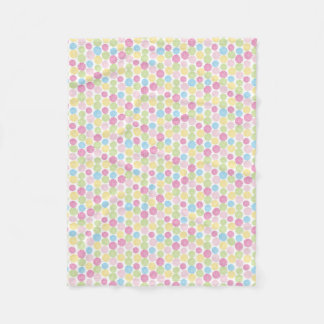 Colorful Pastel dahlia flowers pattern Fleece Blanket