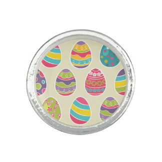 Colorful Pastel Easter Eggs Cute Pattern