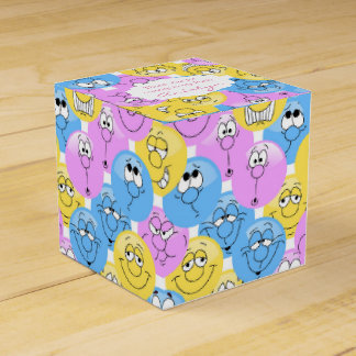 Colorful Pastel Emoji Design Favour Box