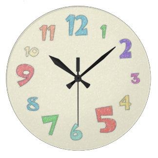 Colorful Pastel Large Clock