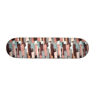 Colorful Patches Abstract 21.6 Cm Skateboard Deck
