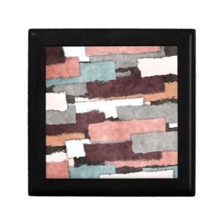 Colorful Patches Abstract Small Square Gift Box
