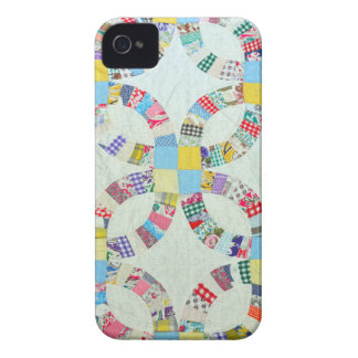 Colorful patchwork quilt iPhone 4 case