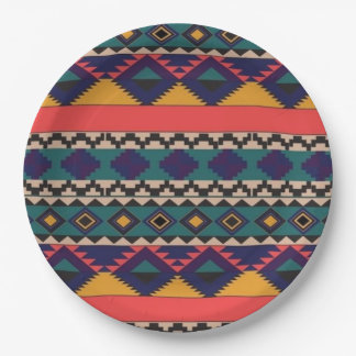 """Colorful Patter of Love- Paper Plates 9"""""""