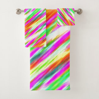 Colorful Pattern Bath Towel Set