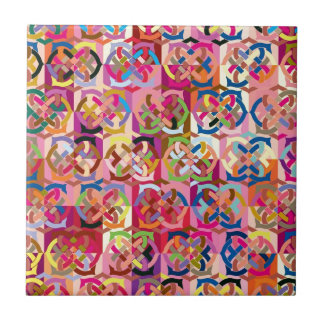 """Colorful Pattern Creation """"Color Connections"""" Ceramic Tile"""