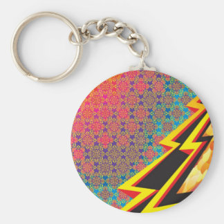 Colorful Pattern Creation Flash Gordon Key Chains