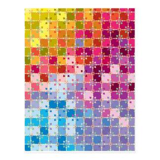 "Colorful Pattern Creation ""My Barcelona"" Postcard"