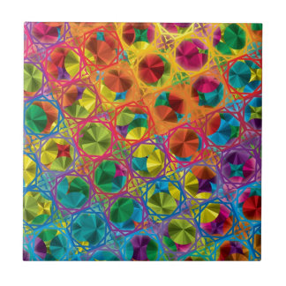 "Colorful Pattern Creation ""Sinbad's Treasure"" Tile"