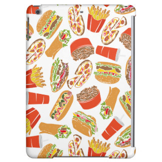 Colorful Pattern Illustration Fast Food