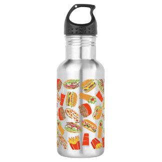 Colorful Pattern Illustration Fast Food 532 Ml Water Bottle