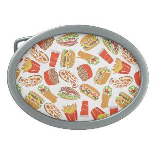 Colorful Pattern Illustration Fast Food Belt Buckles