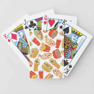 Colorful Pattern Illustration Fast Food Bicycle Playing Cards