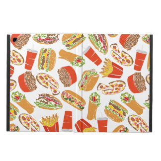 Colorful Pattern Illustration Fast Food Case For iPad Air