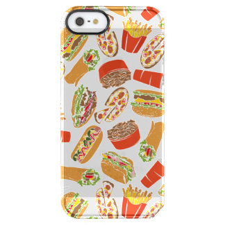 Colorful Pattern Illustration Fast Food Clear iPhone SE/5/5s Case