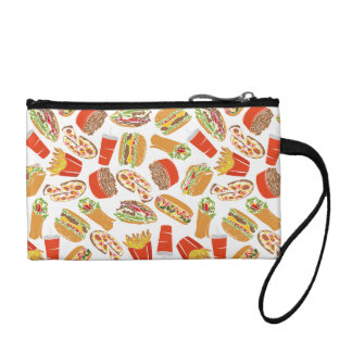 Colorful Pattern Illustration Fast Food Coin Purse