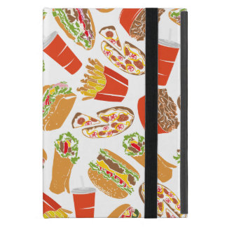 Colorful Pattern Illustration Fast Food Cover For iPad Mini
