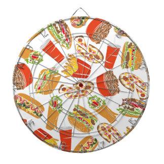 Colorful Pattern Illustration Fast Food Dartboard