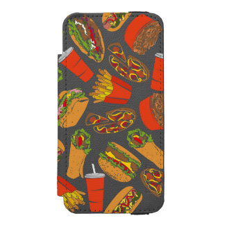 Colorful Pattern Illustration Fast Food Incipio Watson™ iPhone 5 Wallet Case