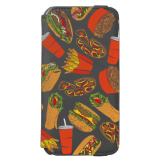 Colorful Pattern Illustration Fast Food Incipio Watson™ iPhone 6 Wallet Case