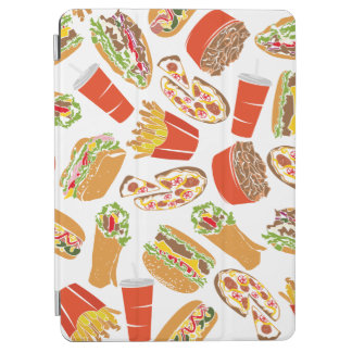 Colorful Pattern Illustration Fast Food iPad Air Cover
