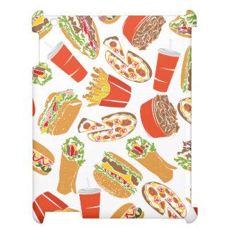 Colorful Pattern Illustration Fast Food iPad Cases