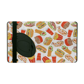Colorful Pattern Illustration Fast Food iPad Cover