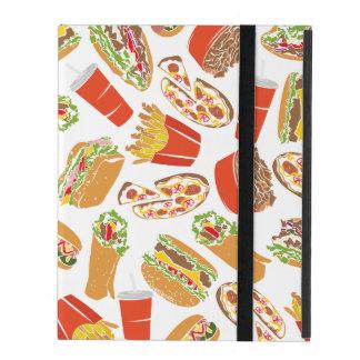 Colorful Pattern Illustration Fast Food iPad Folio Case