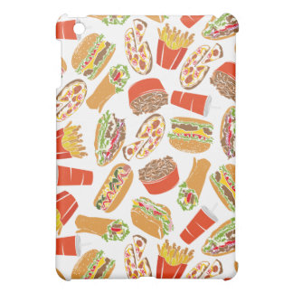 Colorful Pattern Illustration Fast Food iPad Mini Covers