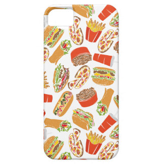Colorful Pattern Illustration Fast Food iPhone 5 Cover